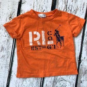 Ralph Lauren Boy's Orange 9M Graphic T-shirt
